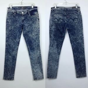 Levis 524 Skinny Stretch Tie Dye Jeans/Jeggings
